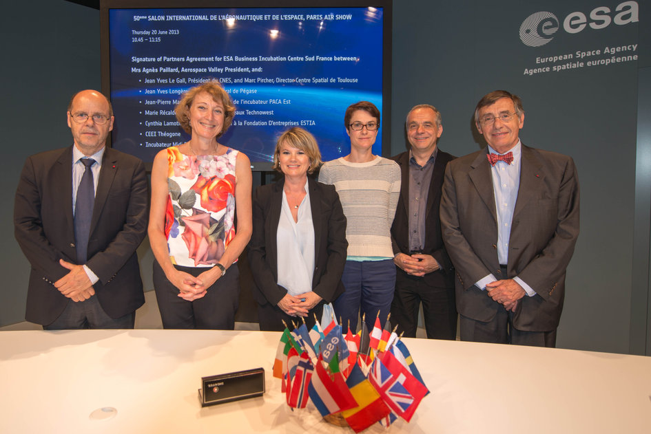 Signature of Partners Agreement for ESA Business Incubation Centre Sud France