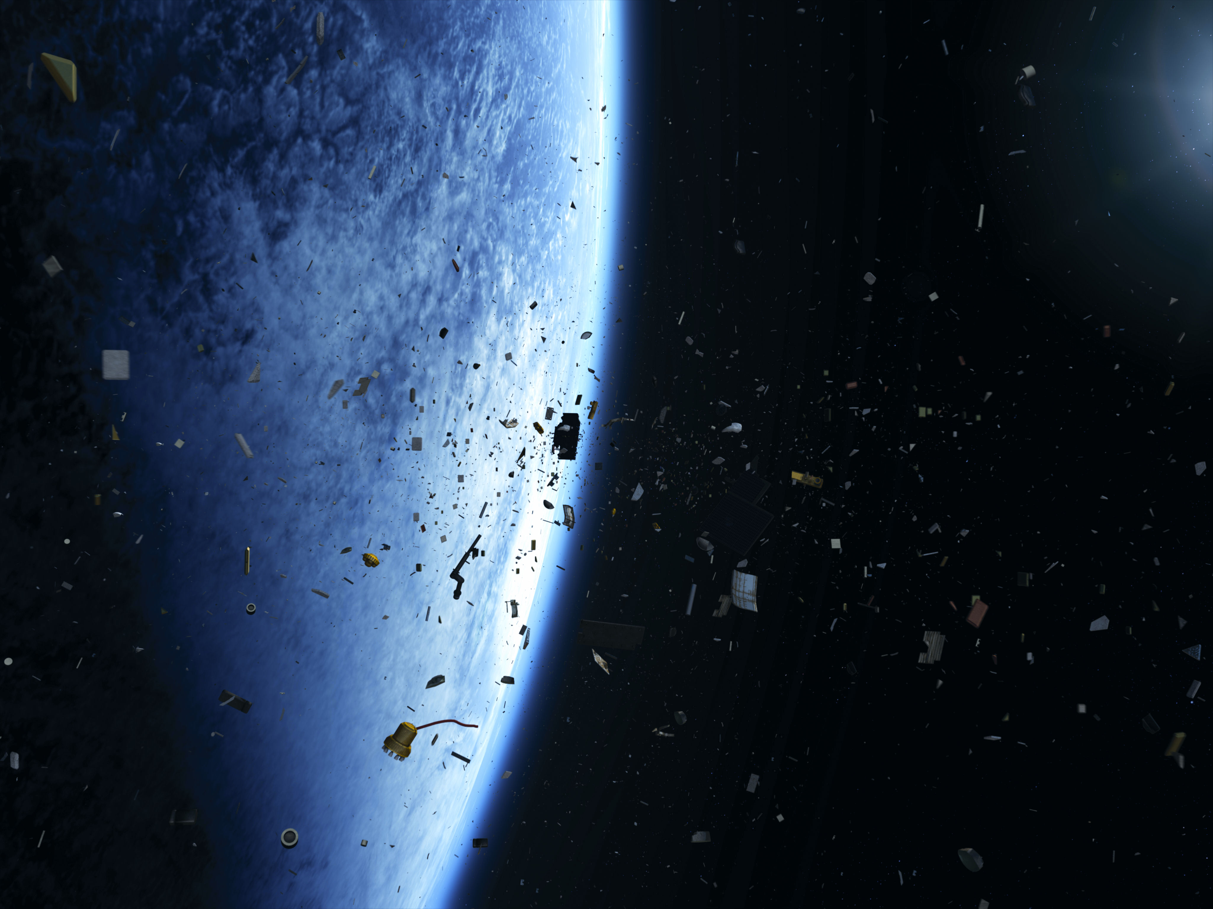 space trash Use your space ship thrusters to move around the screen blasting space junk.