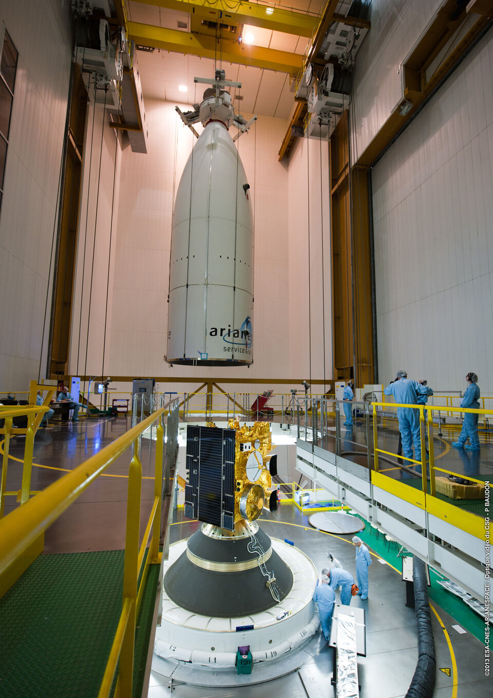 Alphasat on Sylda during fairing encapsulation