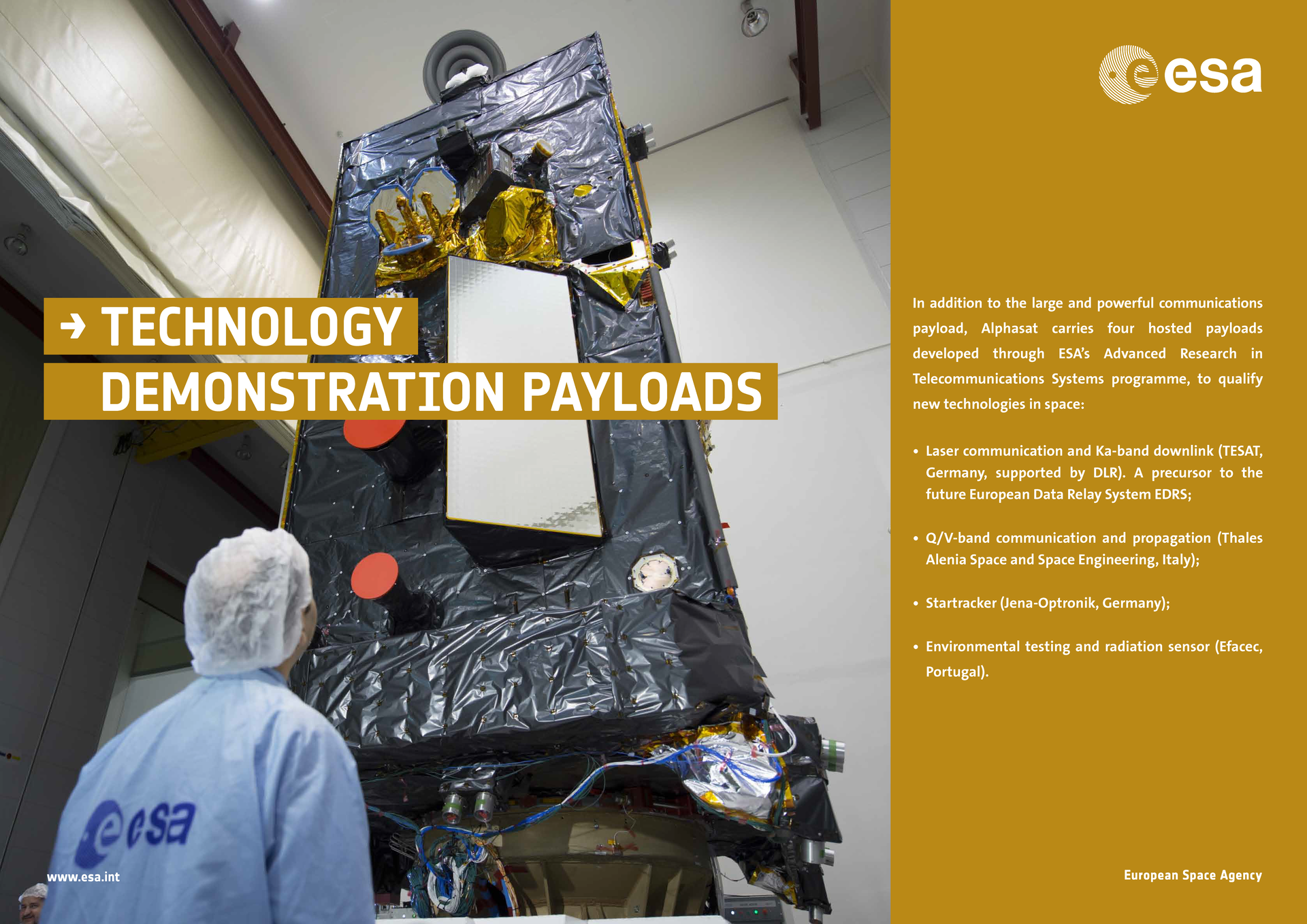 Alphasat Poster - Technology Demonstration Payloads