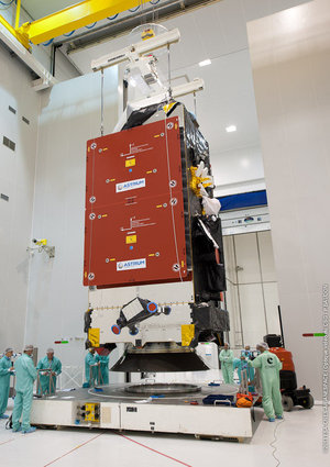 Alphasat stack moved to pallet