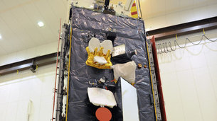 Alphasat's hosted payloads before launch. Credit: Airbus DS