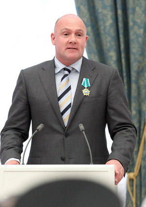 André Kuipers at award ceremony at the Kremlin, Moscow