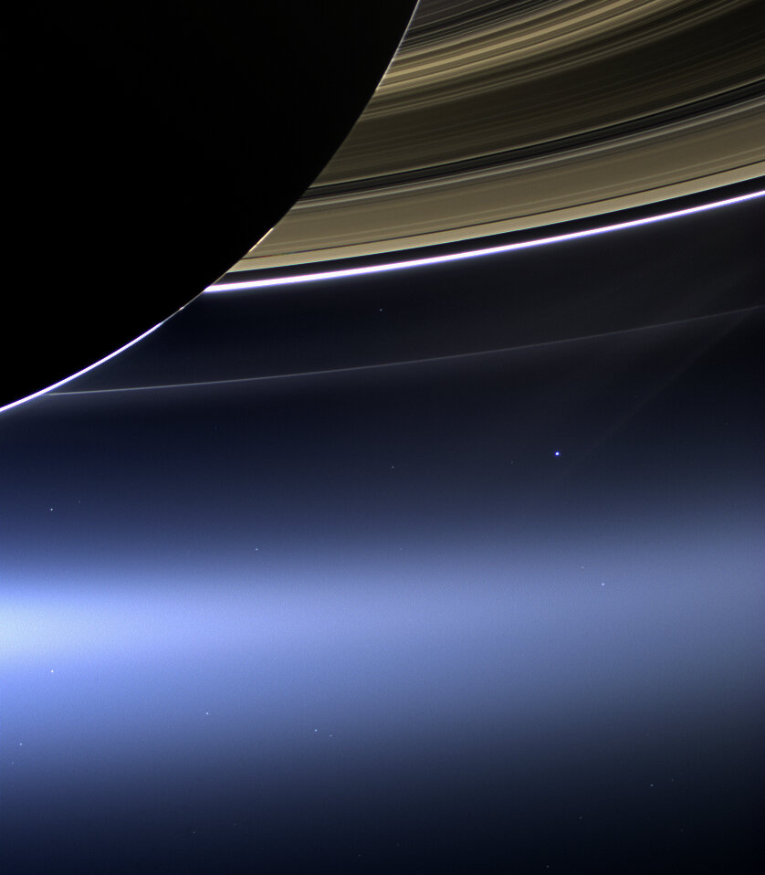Cassini images our pale blue dot