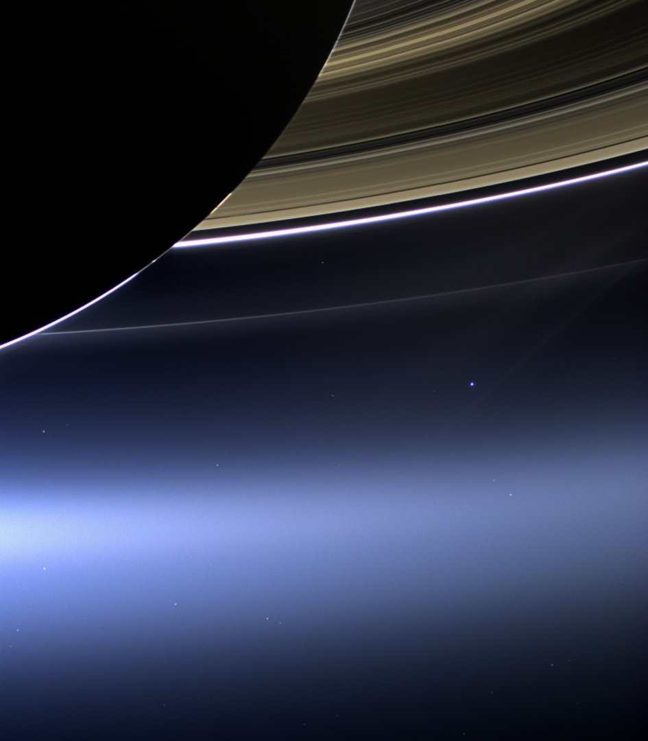 Cassini's Pale Blue Dot