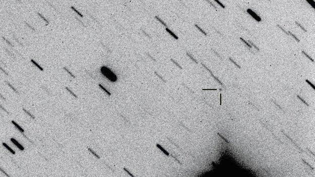 Herschel rumteleskopet fotograferet fra Jorden