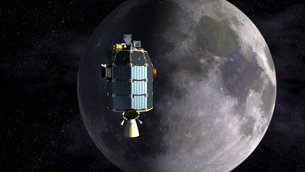 ESA's ground station in Spain will beam data via laser to NASA's LADEE
