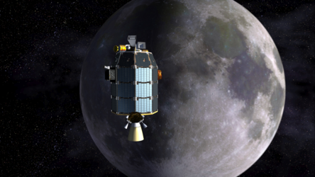 LADEE approaching lunar orbit