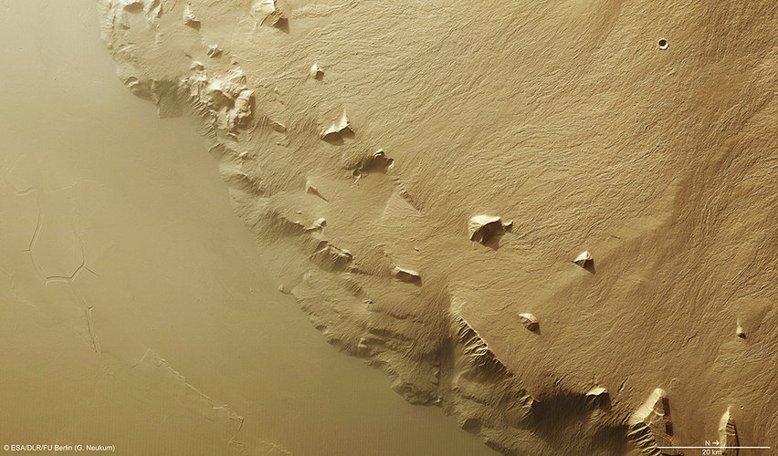 Olympus Mons southeast flank