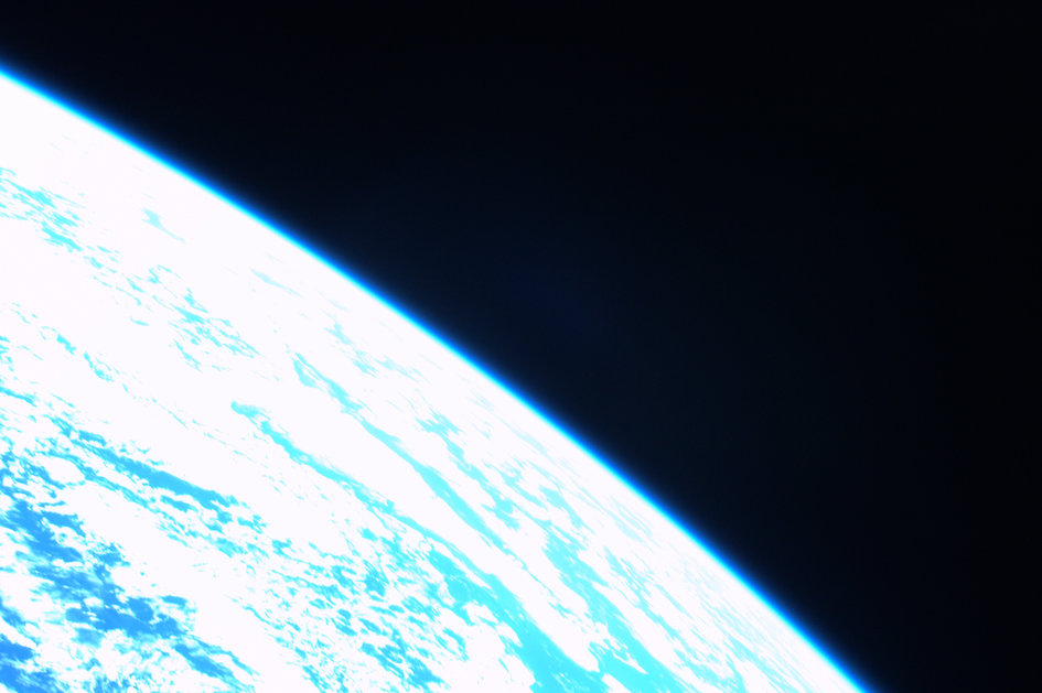 One last glance at the Earth, before reentry