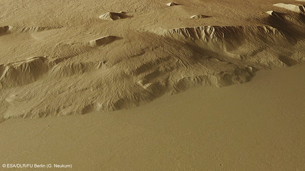 Perspective view of Olympus Mons flanks