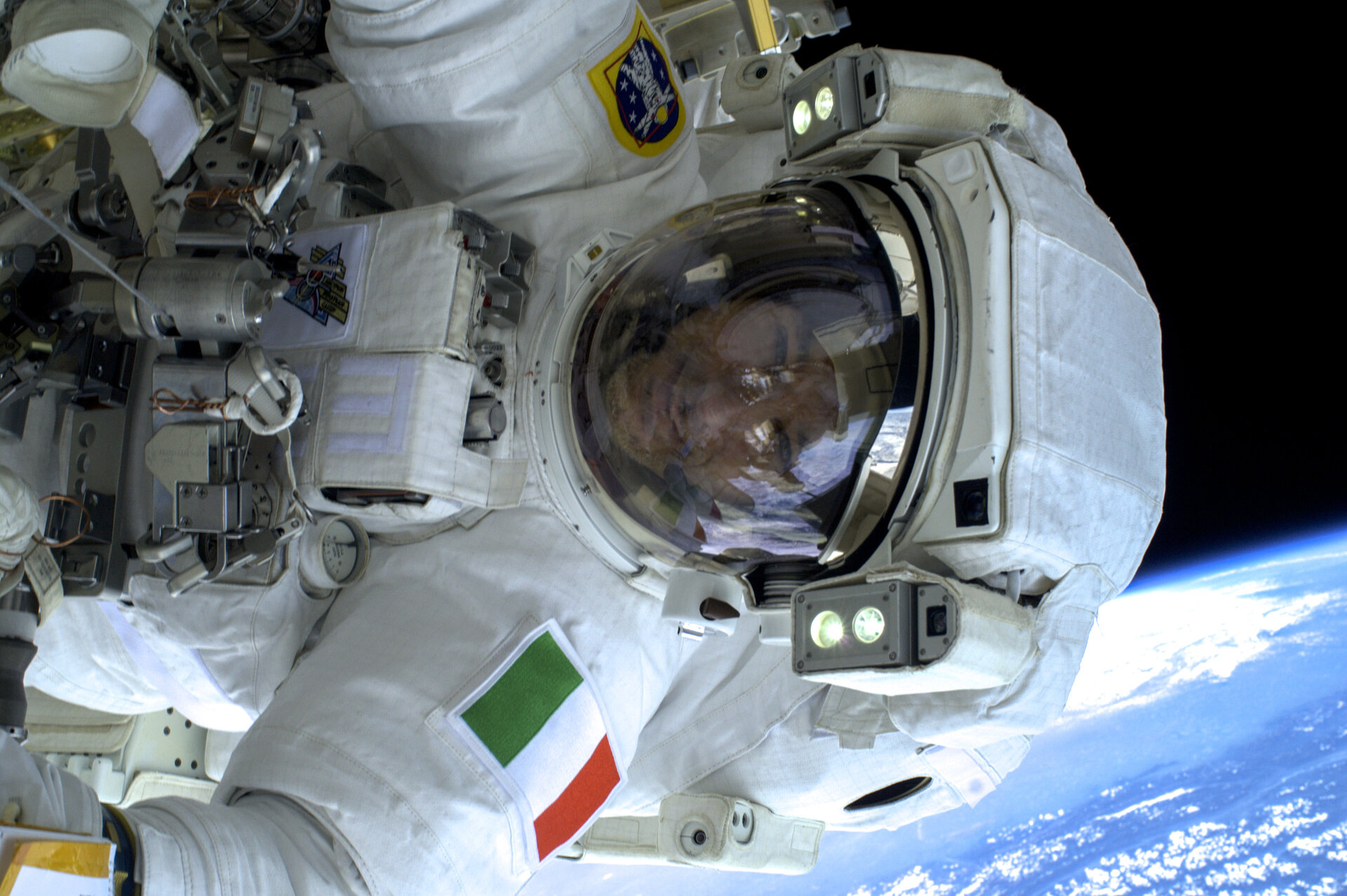 Luca during spacewalk