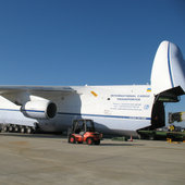 Antonov plane during Gaia loading
