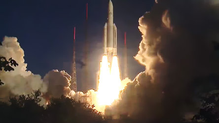 Ariane 5 flight VA215 liftoff