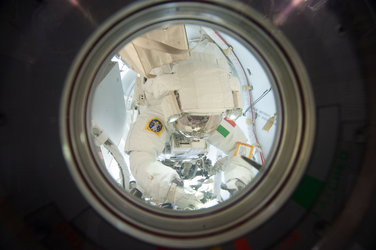 Luca inside the airlock