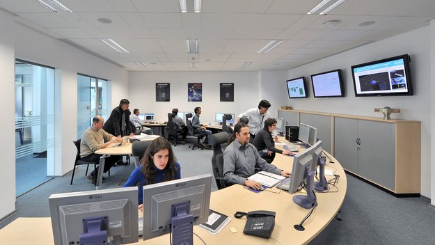 ESA's Navigation Facility calculates and predicts highly accurate GPS, Galileo and GLONASS satellite orbits, in near-real time, every six hours, around the clock.