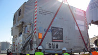 Placing the Gaia container onto the access ramp
