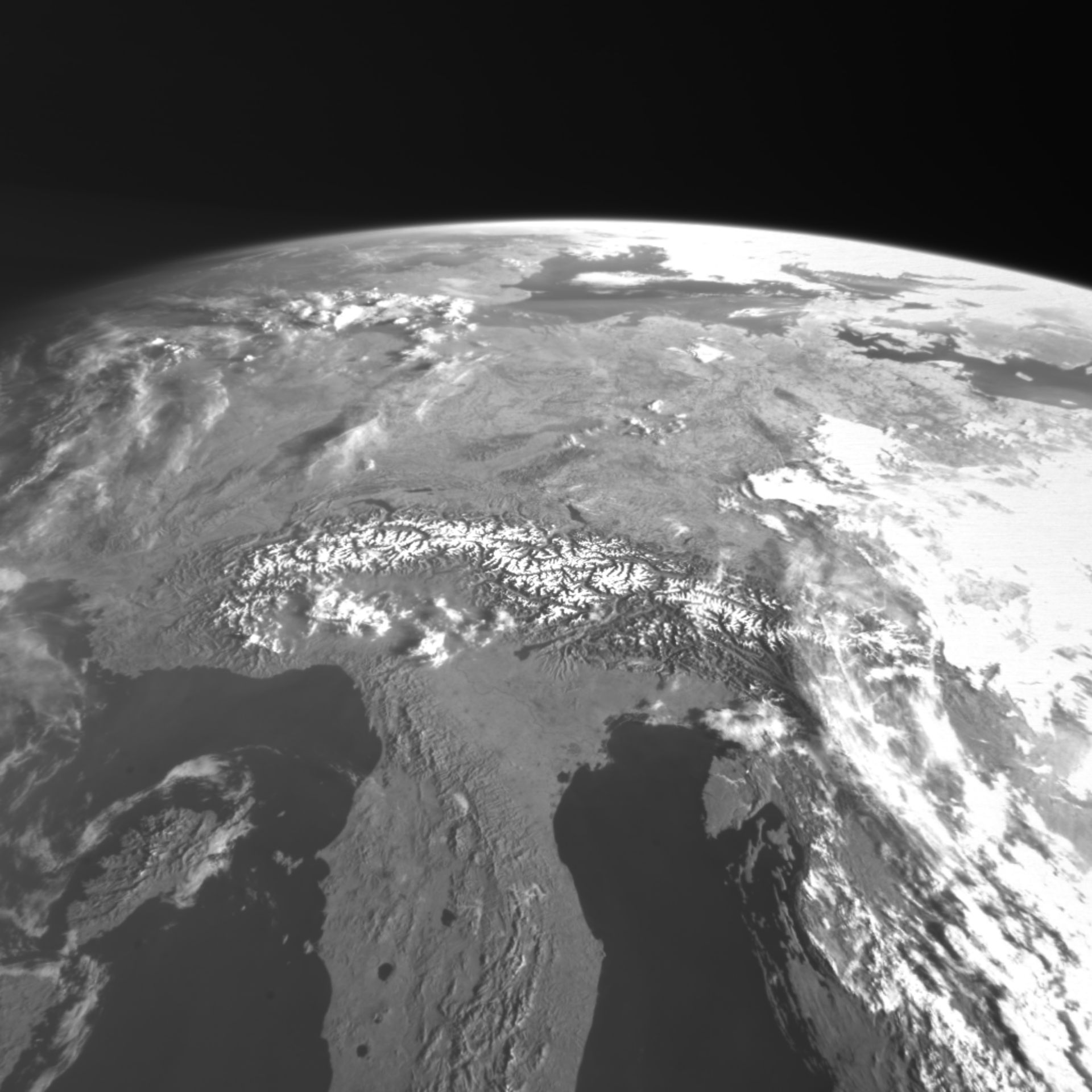 Proba-2's X-Cam view of Europe