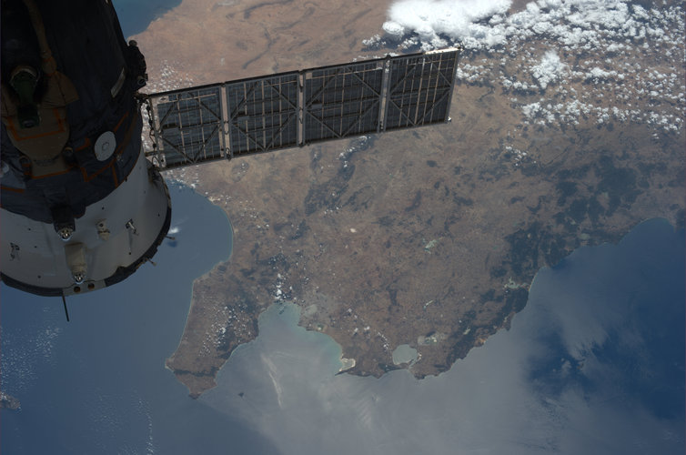Soyuz over Tunisia