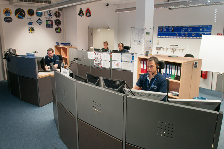 The Medical Operations Console Room at ESA/EAC