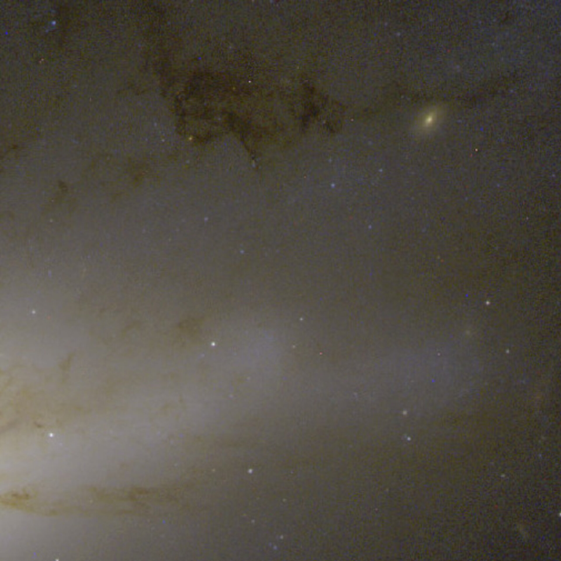 Active galaxy NGC 4438 in the Virgo Cluster, 50 million light-years from Earth