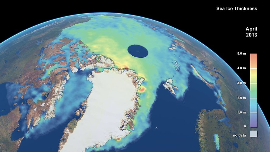 Arctic sea-ice thickness
