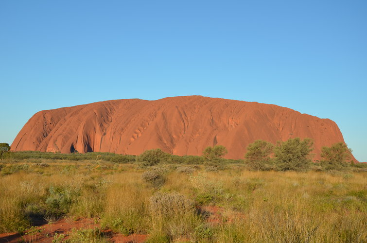 Uluru/Ayers Rock in the Australian outback