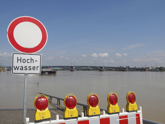 Flood waters in Germany
