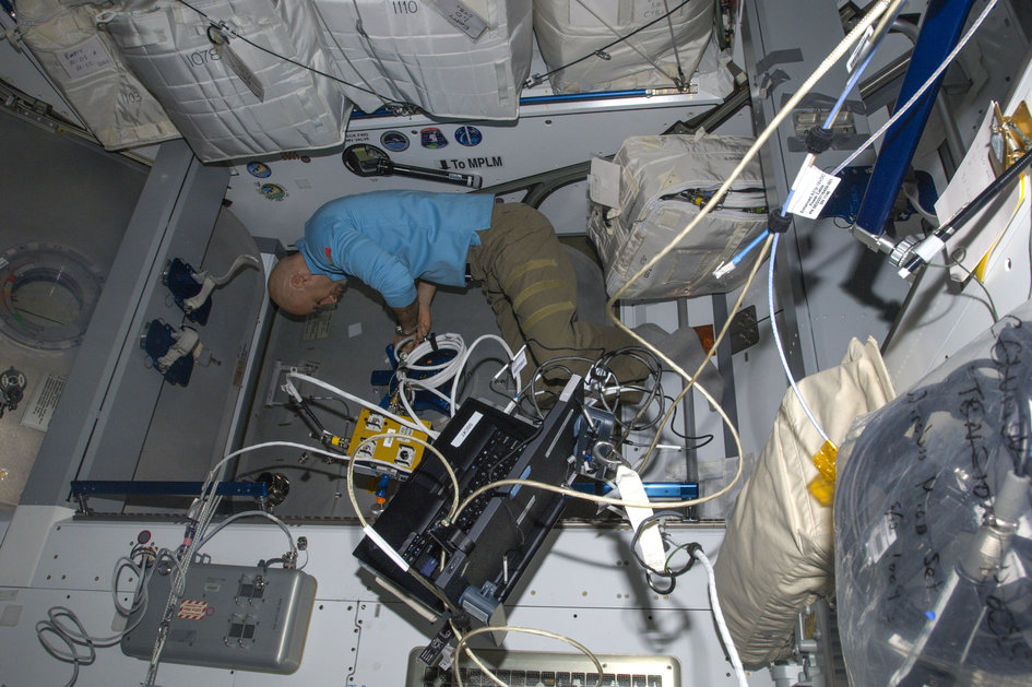 Installing the Centerline Berthing Camera System for Cygnus