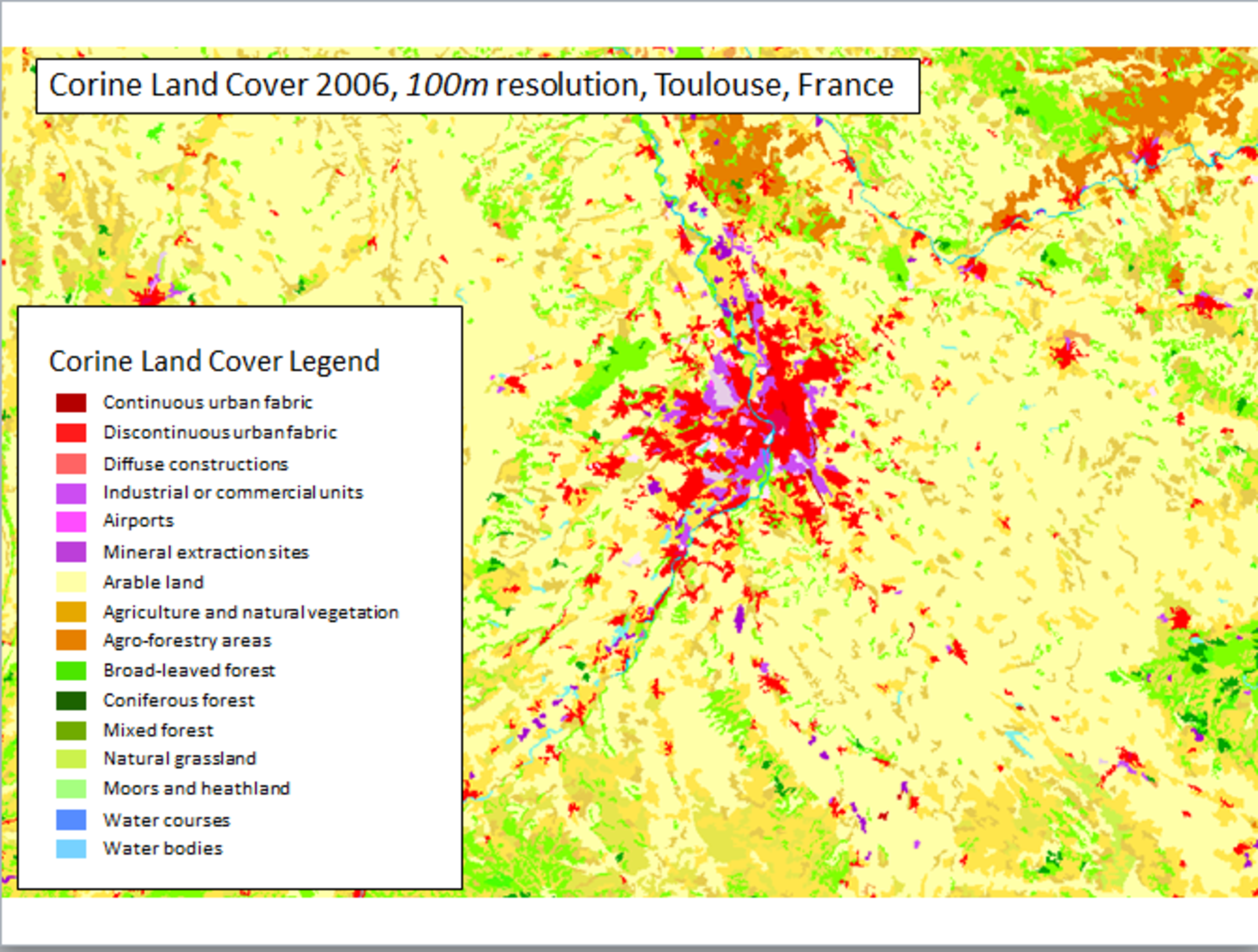 Land-cover map of Toulouse, France