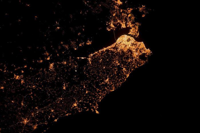 Imágenes satélite nocturnas