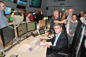 The final command shutting off the transponder was sent by Jan Tauber to Planck from ESA/ESOC on 23 October 2013