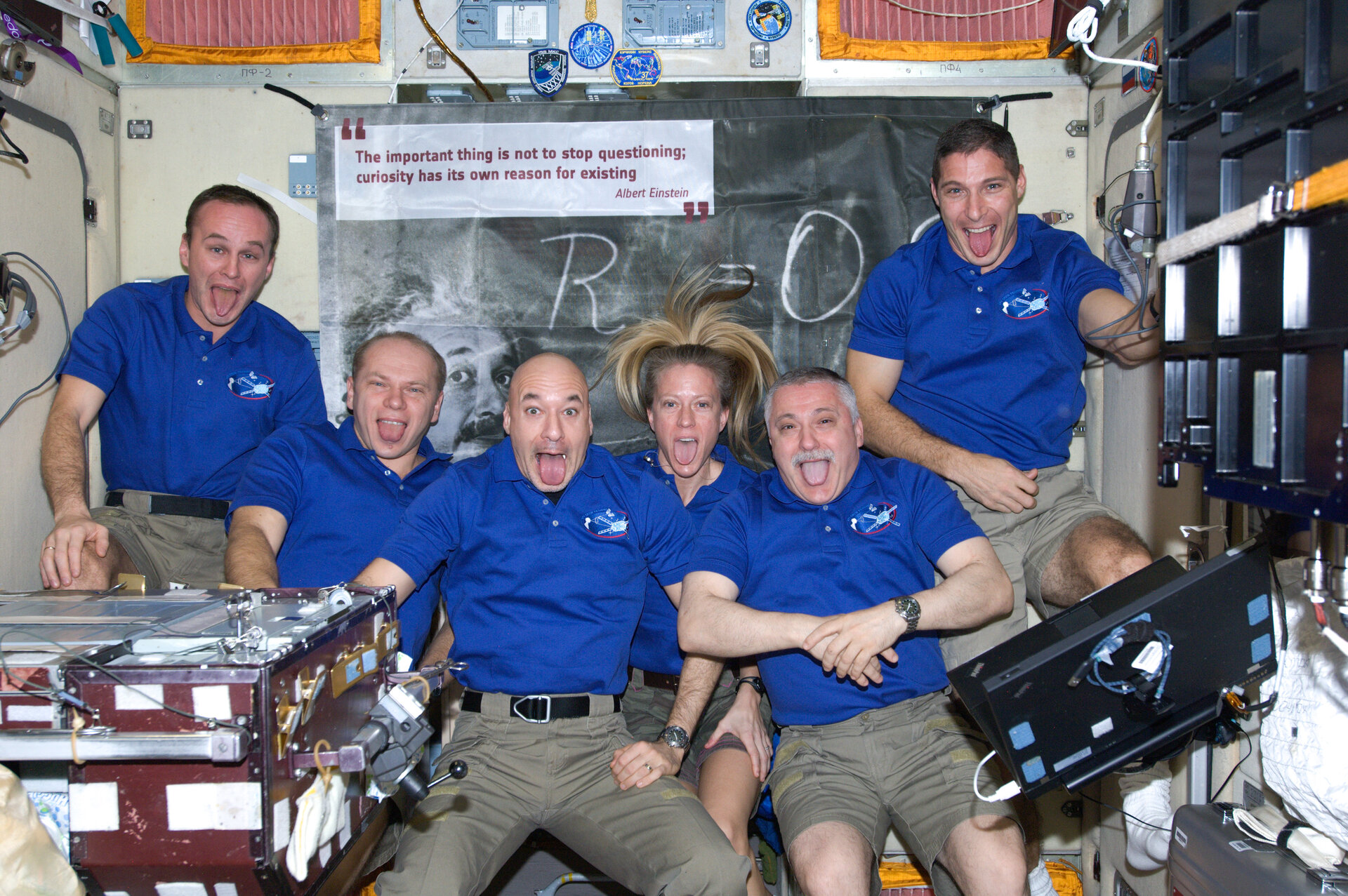 Space Station crew pay tribute to Albert Einstein