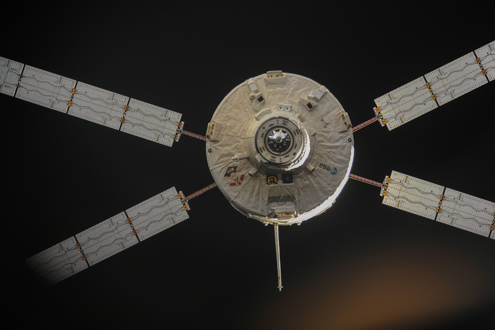 ATV-4 undocks from the ISS
