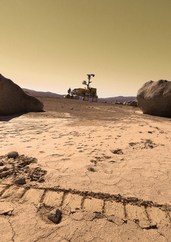 SAFER's Bridget rover as if on Mars