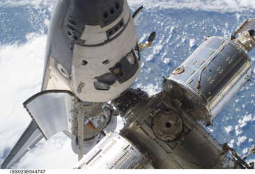 Space Shuttle with Space Station