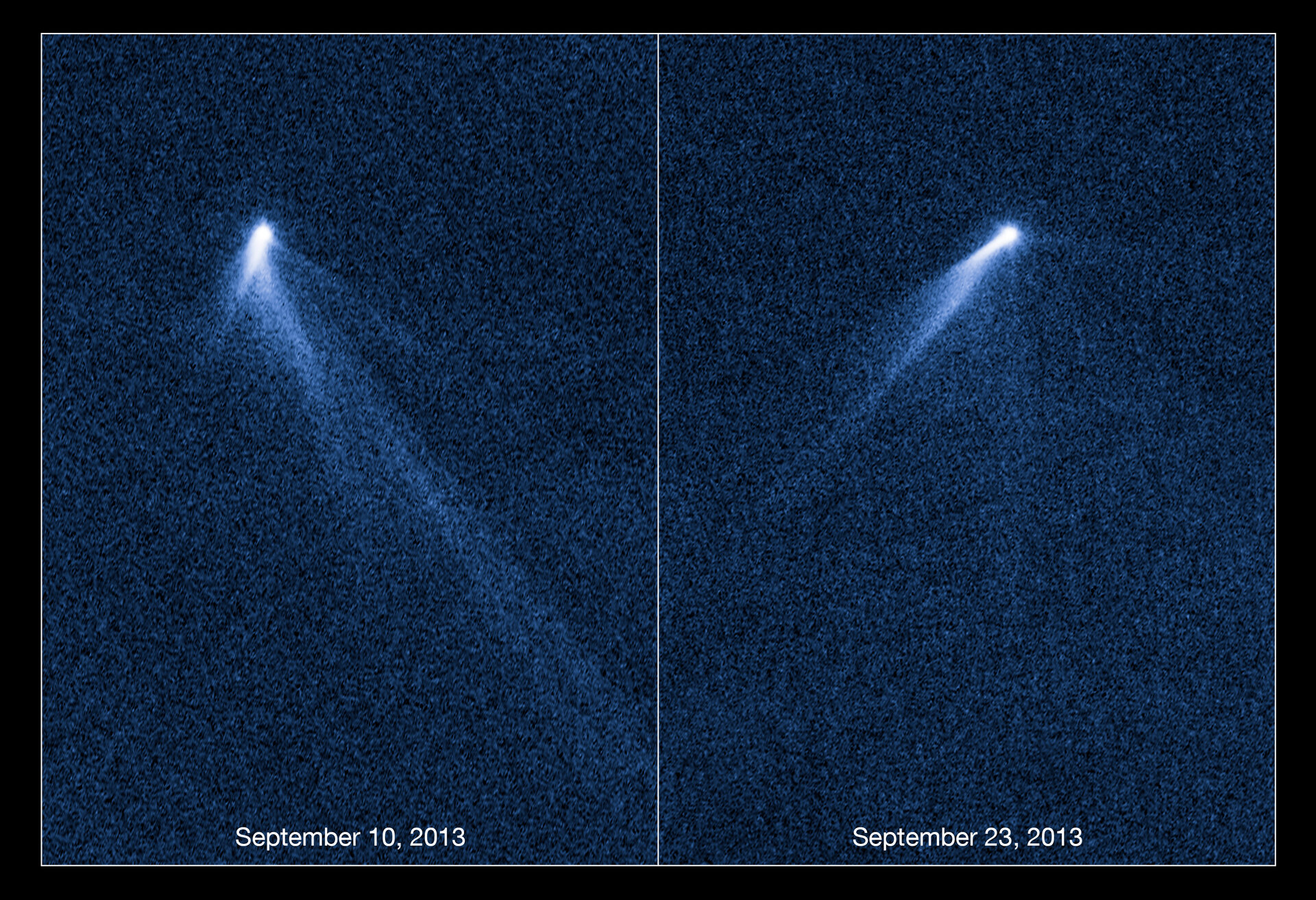 Bizarre six-tailed asteroid