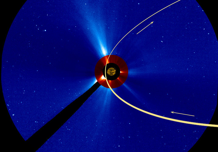 Comet ISON's orbit around the Sun