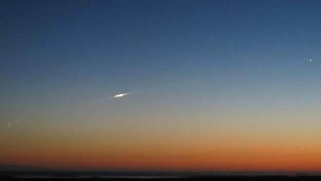 GOCE reentering the atmosphere taken by Bill Chater in the Falklands at 21:20 local time on 11 November