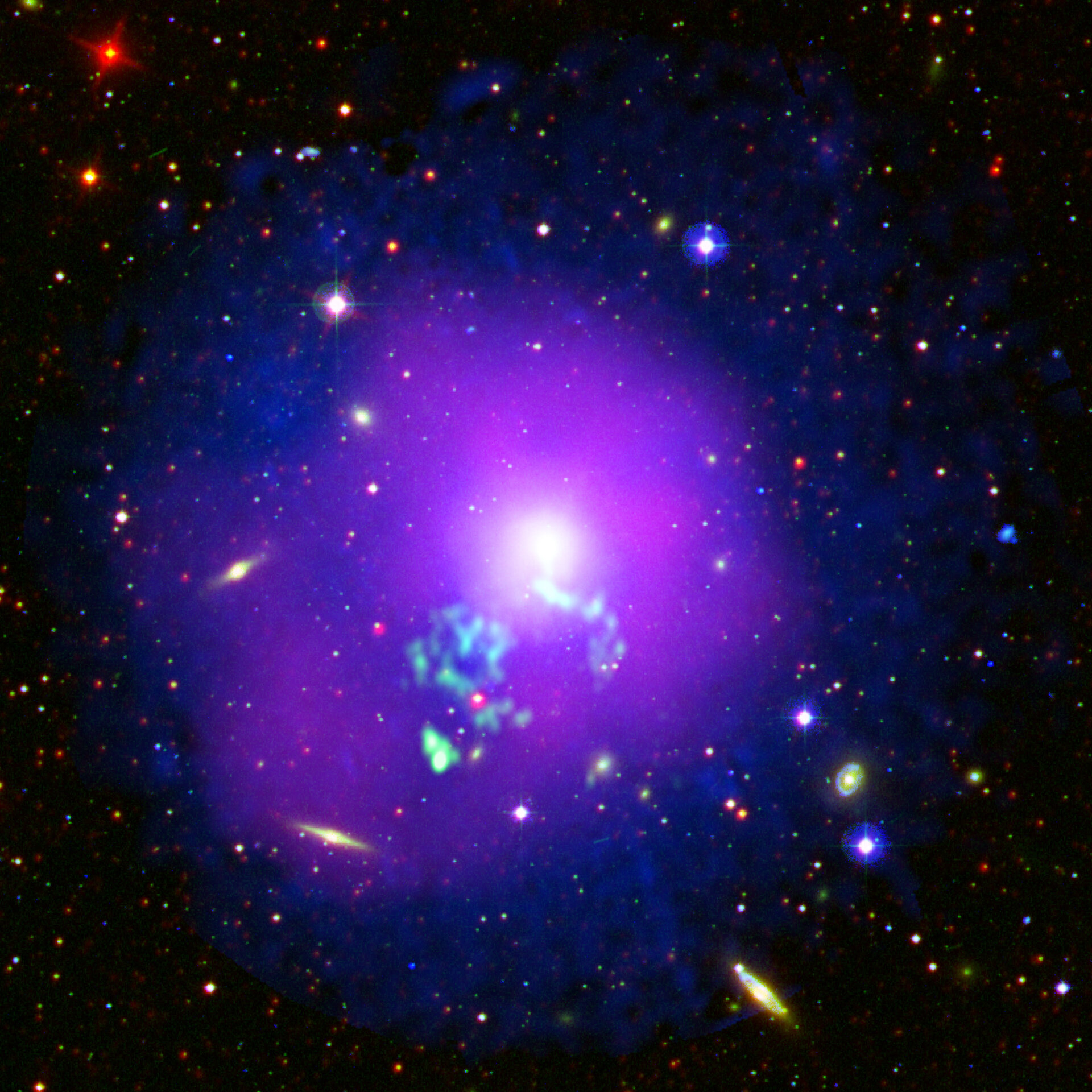 Hot gas sloshing in a galactic cauldron