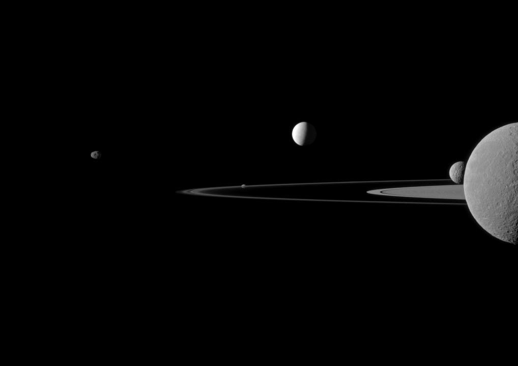 Cassini Pictures Saturn S Countless Moons