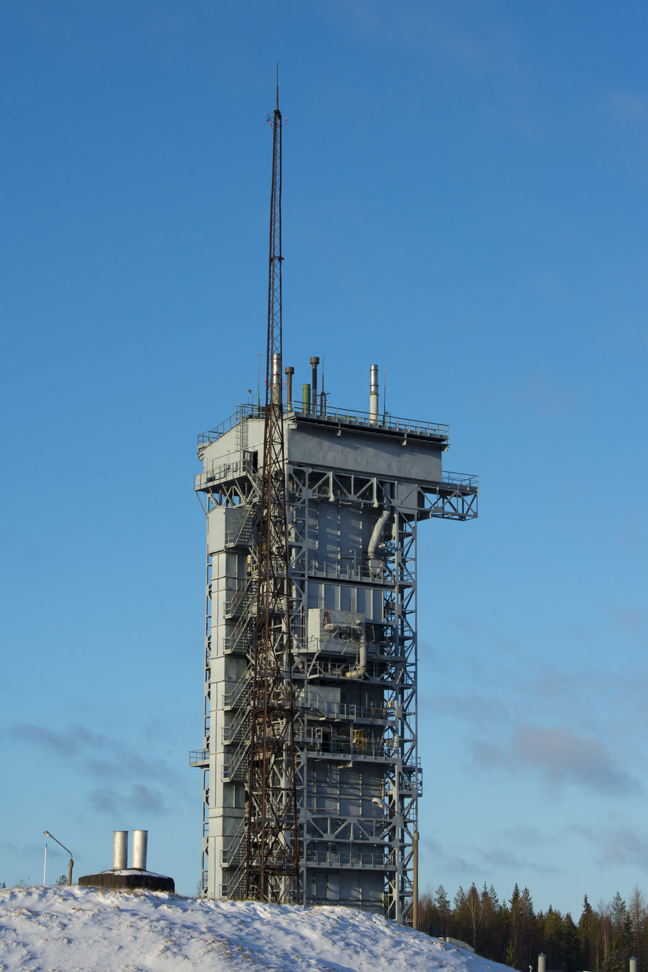 Rockot launch tower at the Plesetsk Cosmodrome