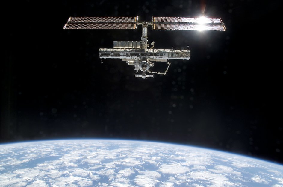 Space Station with P1 truss
