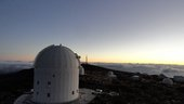ESA's Optical Ground Station (OGS) is 2400 m above sea level on the volcanic island of Tenerife.