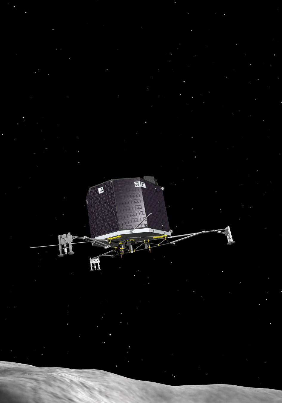 touchdown! rosettas philae probe lands on comet - HD 945×1350