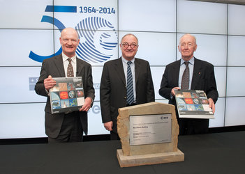 David Willetts MP, Jean-Jacques Dordain and Roy Gibson