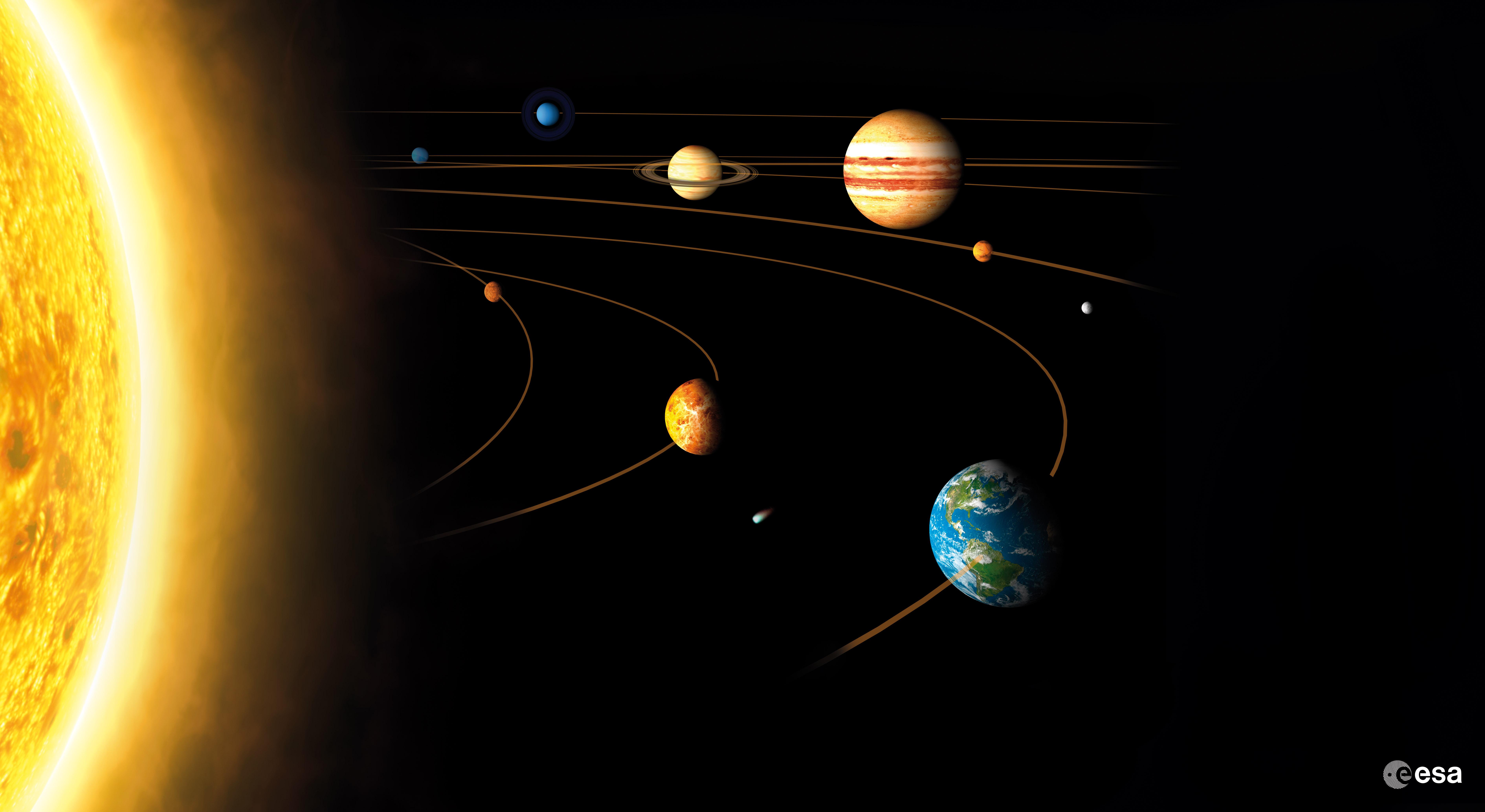 solar system planets - HD2560×1600