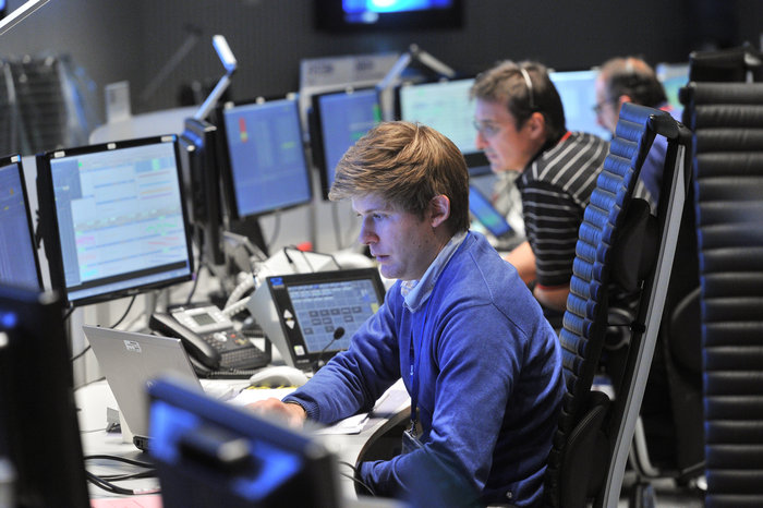 Gaia mission control team in training for critical LEOP at ESOC, Darmstadt, Germany