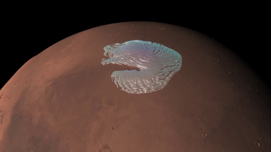 Mars 360: the north pole
