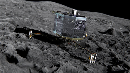 Philae on the comet